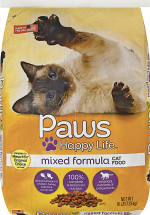 Paws 16 lb. Select Varieties Cat Food product image.