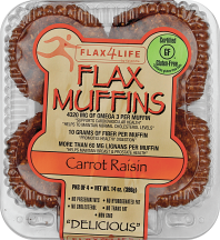 Flax4Life  14 oz. Select Varieties Muffins product image.