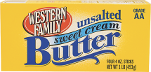 Western Family 16 oz. Salted and Unsalted Butter product image.