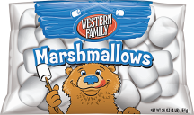 Western Family 7 oz. Creme, 16 oz. Select Varieties Marshmallows or .6-6 oz. Select Varieties Gelatin or Pudding product image.