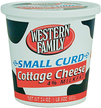 Western Family  24 oz. Select Varieties Cottage Cheese product image.