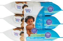 Tippy Toes 192-216 ct. Baby Wipes product image.