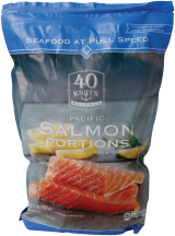 40 Knots 2 lb. pkg. Salmon Portions product image.