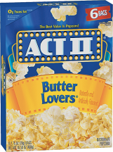 Act II 6 ct. Butter or Butter Lover Popcorn product image.