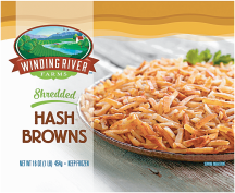 Winding River 16 oz. Select Varieties Hashbrowns product image.