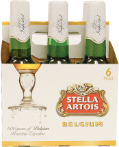 6 pk. 12 oz. bottles Stella Artois product image.
