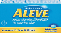 Aleve 100 ct. Regular or Arthritis Caps Pain Reliever product image.