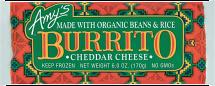 Amy's 6 oz. Select Varieties Frozen Burritos product image.