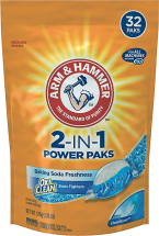 Arm & Hammer 24-32 ct. or 61.25-75 oz. Laundry Detergent product image.