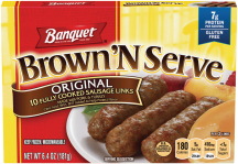 Banquet Brown'N Serve 6.4 oz. Select Varieties Sausage product image.