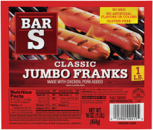 Bar S 1 lb. Select Varieties Franks product image.