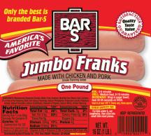 Bar S 16 oz. Select Varieties Franks product image.