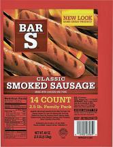 Bar S 32-40 oz. Select Varieties Sausage product image.