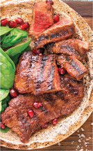 Willamette Valley Beef Flat Iron Steaks product image.