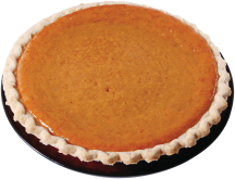 8 Inch Fresh Baked Pumpkin Pie product image.