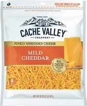 Cache Valley 32 oz. Brick or Shredded Select Varieties Cheese product image.