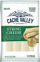 Cache Valley 12 ct. Select Varieties String Cheese product image.