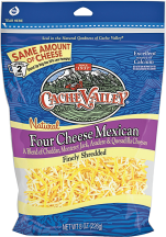 Cache Valley  8 oz. Select Varieties Shredded Cheese product image.