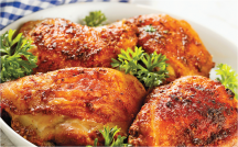 All Natural Boneless Chicken Thighs product image.