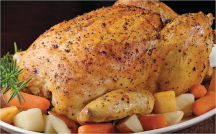 Just Bare 3.5 lb. Whole Chicken product image.