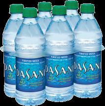 Dasani 6 ct. 16.9 oz. Bottled Purified Water product image.
