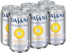 Dasani 6 pk. 12 oz. Select Varieties Flavored Sparkling Water product image.
