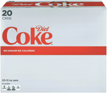 20 pk. 12 oz. Cans Select Varieties Coke Products product image.