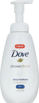 Dove 13.5 oz. Shower Foam or 22 oz. Select Varieties Body Wash product image.