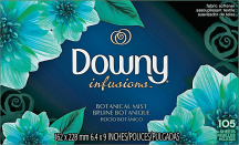 Bounce or Downy 105-120 ct. Select Varieties Dryer Sheets product image.