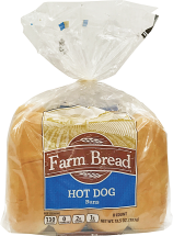 Farm Bread 8 pk. Hamburger or Hot Dog Buns product image.