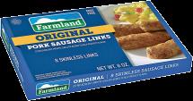 Farmland 8 oz. Links or 12 oz. Roll Pork Sausage product image.
