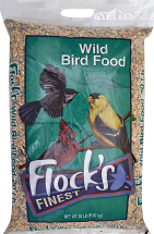 Flock's Finest 20 lb. Wild Bird Food product image.