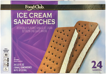 Food Club 24 ct. Select Varieties Ice Cream product image.