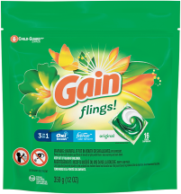 Gain Flings 16 ct. Select Varieties Laundry Detergent product image.