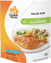 Gold'n Plump 10 lb. Chicken Leg Quarters product image.