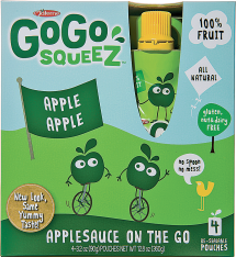 Gogo Squeez 4 pk. Select Varieties Applesauce product image.