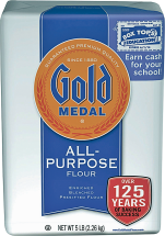 Gold Medal 5 lb. All Purpose or Unbleached Flour product image.