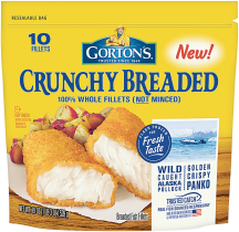 Gortons 18.2-24.5 oz. Select Varieties Breaded or Battered Fish product image.