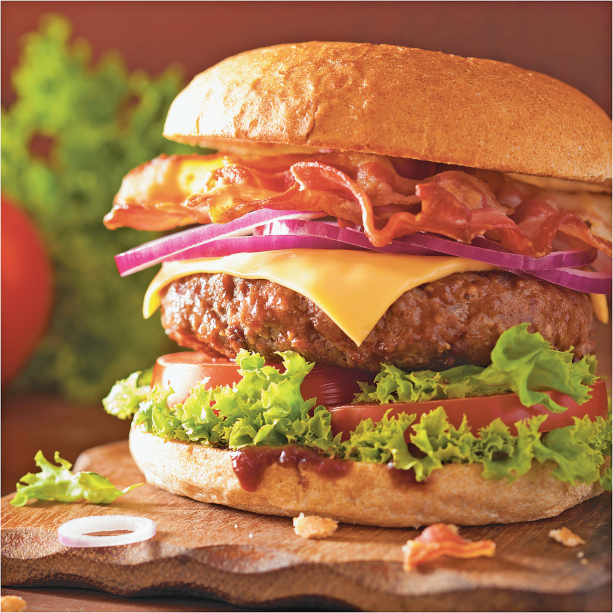 Stone's 5 lb. Box 80% Lean 20% Fat Ground Beef Patties product image.