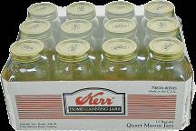 Quart Mason jars product image.