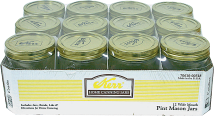 pint wide mouth jars product image.