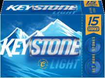 15 pk. 12 oz. cans Keystone Light product image.