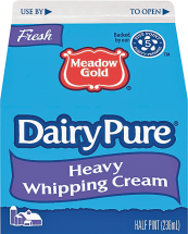Dairy Pure 8 oz. Whipping Cream or Blue Bonnet 16 oz. Regular or Light Margarine product image.