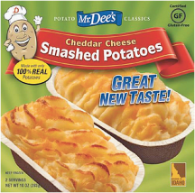 Smashed potatoes product image.