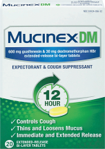 Mucinex 14-20 ct. or 6 oz. Select Varieties Cough Medicine product image.
