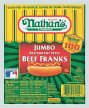 Nathan's 12-14 oz. Beef Franks product image.