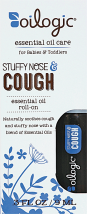 Oilogic Stuffy Nose & Cough .3 oz. Roll On or 9 oz. Bath Oil Toddler Essential Oil Care product image.