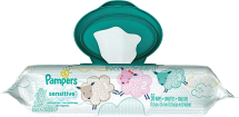 Pampers 56-64 ct. Select Varieties Baby Wipes product image.