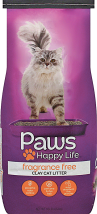 Paws 10 lb. Cat Litter product image.