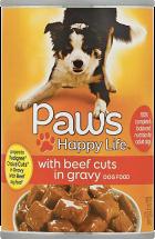 Paws Happy Life 22 oz. Dog Food product image.